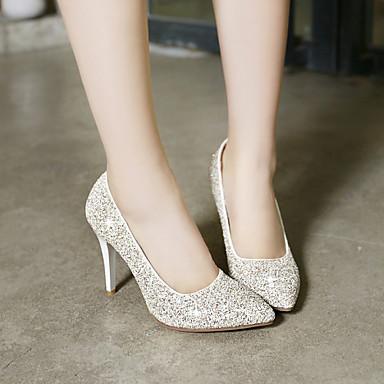 Printemps Chaussures Talon Habillé Blanc Femme Eté Doré Paillette 03709277 Aiguille E7fO4qw