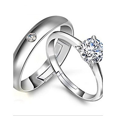 Women's Statement Ring Silver Sterling Silver Adjustable Wedding Party Engagement Costume Jewelry