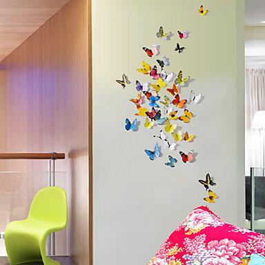 Eläimet 3D Wall Tarrat 3D-seinätarrat Koriste-seinätarrat Jääkaappitarrat,Vinyyli materiaali Siirrettävä Kodinsisustus Seinätarra
