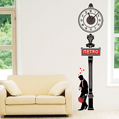 DIY 3D Romantic Street Wall Clock