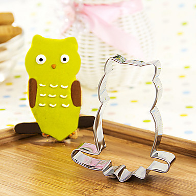 Cartoon Owl on Branch Shape Cookie Cutters Fruit Cut Molds Stainless Steel