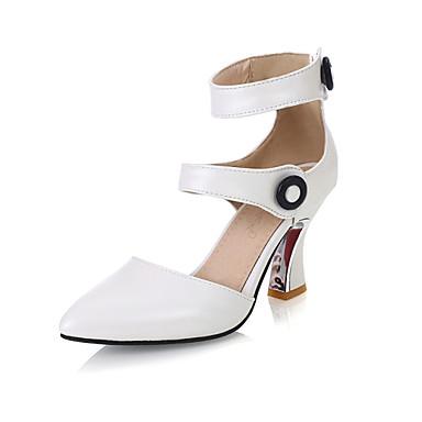 Naiset Kengät Tekonahka Kesä Stilettikorko Niiteillä Käyttötarkoitus Puku Valkoinen Musta Pinkki