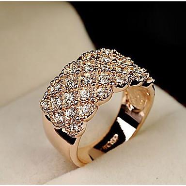 Damen Aleación Statement-Ring - Modisch Silber / Golden Ring Für Hochzeit / Party / Alltag