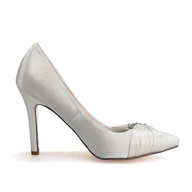 Mariage amp; Femme Rose Eté Soirée 03736487 Evénement Champagne Soie Printemps Aiguille Ivoire Talon Chaussures rffnCqPwz