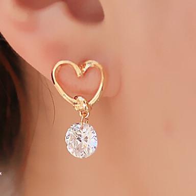 Women's Heart Drop Earrings - Basic Heart Fashion Golden Earrings For Party Daily Casual