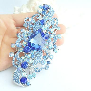 γυναικεία αξεσουάρ ασήμι-Ήχος μπλε τεχνητό διαμάντι κρύσταλλο λουλούδι καρφίτσα γυναίκες deco τέχνης κρυστάλλινα καρφίτσα μπουκέτο