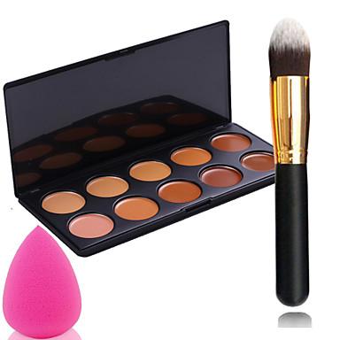10 Farben Make-up Pinsel Puderquasten Klassisch Alltag Bilden Kosmetikum