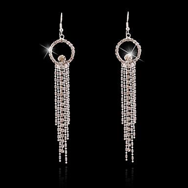 Σκουλαρίκι Κουμπωτά Σκουλαρίκια / Κρεμαστά Σκουλαρίκια Κοσμήματα 2pcs Απομίμηση Μαργαριταριού / Στρας / Επιχρυσωμένο Γυναικεία Ασημί