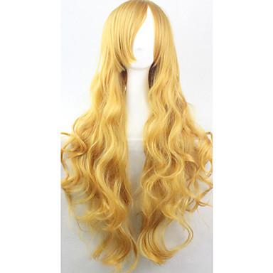 Włosy syntetyczne Peruki Kręcone Bez czepka cosplay peruka Blond