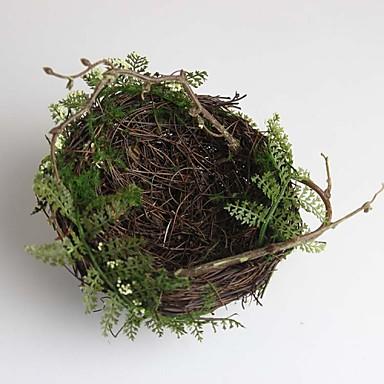 Florais/Botânicos Animais Madeira Cana/Vime Regional Interior/Exterior Acessórios decorativos