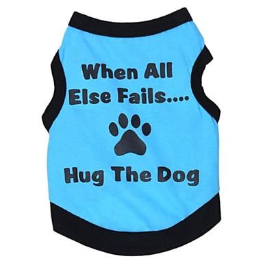 Kissa Koira T-paita Koiran vaatteet Kirjain ja numero Harmaa Vihreä Sininen Pinkki Puuvilla Asu Lemmikit Cosplay