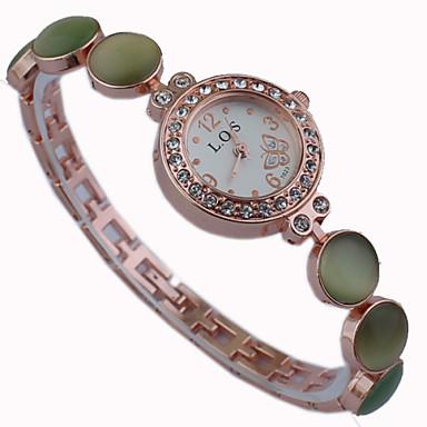 Женские Модные часы Кварцевый сплав Группа С подвесками Кольцеобразный Белый Синий Зеленый Розовый ЖелтыйБелый Желтый Зеленый Синий