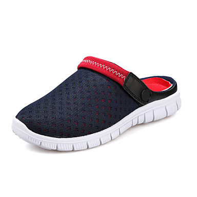 Miesten kengät Tyll Personoidut materiaalit Kevät Kesä Hole Kengät Puukengät varten ulko- Musta Tumman sininen Harmaa