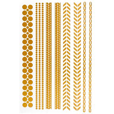 4 Mintás/Waterproof - Ékszer-sorozat - 24.5*14*0.2CM - Papír - Arany/Színes/Ezüst - Minta - Női/Férfi/Felnőtt/Tini - Tetkó matricák