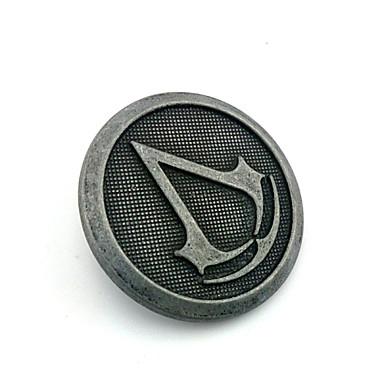 Κοσμήματα Εμπνευσμένη από Assassin's Creed Connor Anime/ Βιντεοπαιχνίδια Αξεσουάρ για Στολές Ηρώων Έμβλημα / Καρφίτσα Ασημί Κράμα Ανδρικά