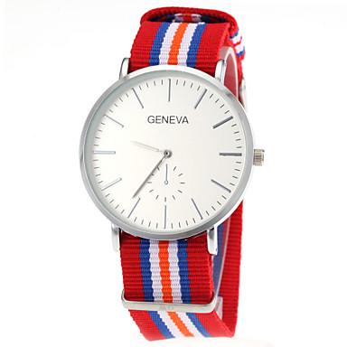 Men's Quartz Wrist Watch Hot Sale Nylon Band Charm Multi-Colored