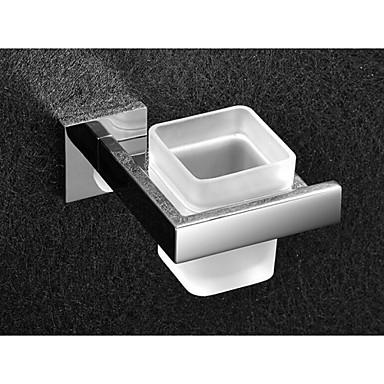 Toalettbørsteholder Moderne Rustfritt Stål / Glass 1 stk - Hotell bad