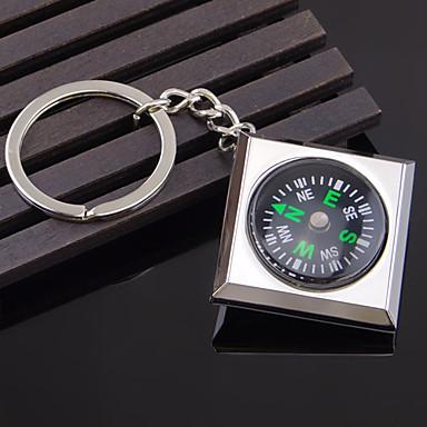 Overlevelse kompass nøkkelring legering utendørs camping fottur nøkkelring arrangør