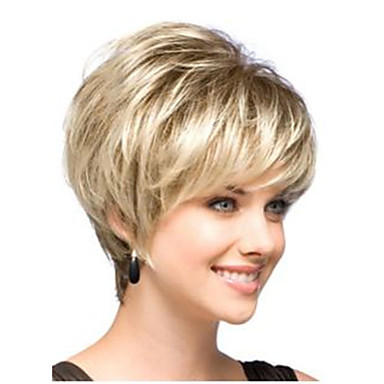 Synthetic Wig Straight Bob Haircut With Bangs Density Capless Women's Carnival Wig Halloween Wig Natural Wigs Short Synthetic Hair