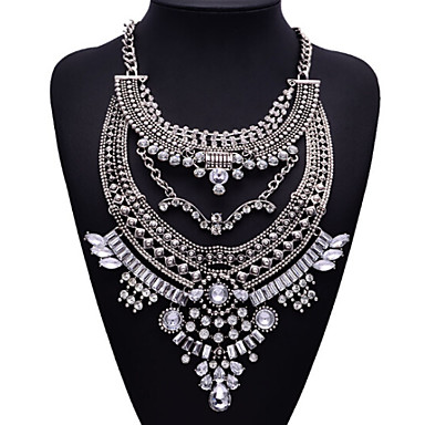 JQ Jewelry Big Name Silver Metal Style Bohemian Pearls Tassel Necklace