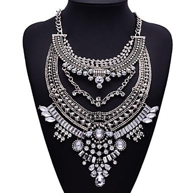 jq ékszerek nagy név ezüst metal stílusban bohém gyöngy címer nyaklánc