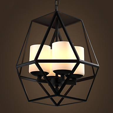 Top level American Village Vintage black Iron Lamp, Modern Chandelier Chandelier, 4 lights