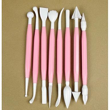 zestaw 8 narzędzi do pieczenia ciasto kremówki narzędzi rzeźbiarskich dekoracji ciasta pióra grawerowania