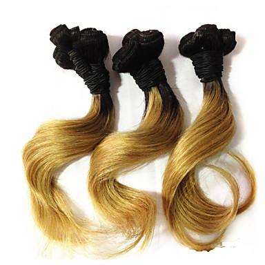 Brazilian Hair Wavy Human Hair Weaves 1 Piece 0.1