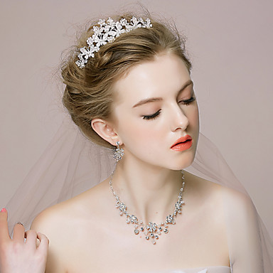 Women's Alloy/Rhinestone/Imitation Pearl Wedding/Party Jewelry Set