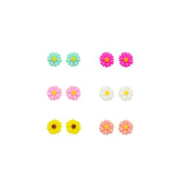 Naisten Niittikorvakorut Hartsi Hopeoitu Sunflower-valoefekti Flower Korut Päivittäin Kausaliteetti Urheilu Pukukorut