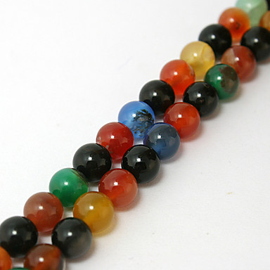 DIY Jewelry 38cm/str pcs Beads Buckets Beads kits Stone Red Round Shape Bead cm DIY Necklace Bracelet