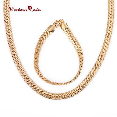 Damen vergoldet Schmuck-Set Armband / Halsketten - Retro / Party / Büro Gold Schmuckset Für