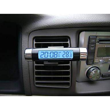 модно ЖК автомобиля цифровой голубой подсветкой автомобильной календарь термометр часы с клипа оптовой