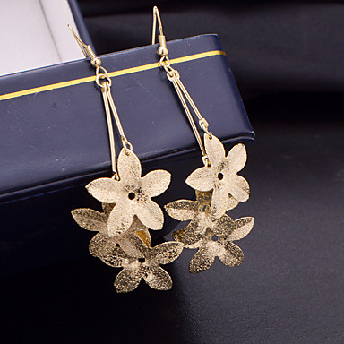 Women's Drop Earrings Costume Jewelry Alloy Flower Jewelry For Wedding Party Daily Casual