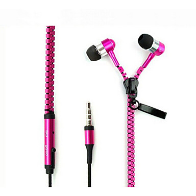 Kulakta Kablolu Kulaklıklar Aluminum Alloy Cep Telefonu Kulaklık Mikrofon ile kulaklık