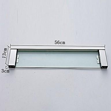Hylle til badeværelset Moderne Rustfritt Stål Glass 1 stk - Hotell bad
