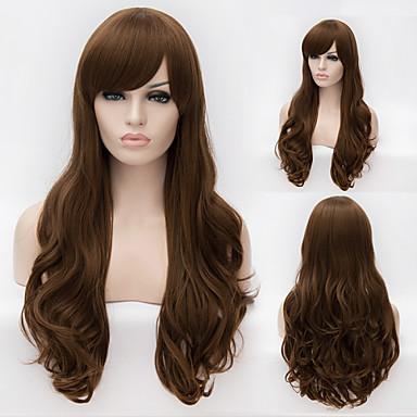 Парики из искусственных волос Естественные кудри Без шапочки-основы Искусственные волосы