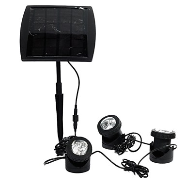 Solar Powered LED Landscape Spotlight Projection Light with 3 Lamps for Garden Pool Pond Outdoor Decoration