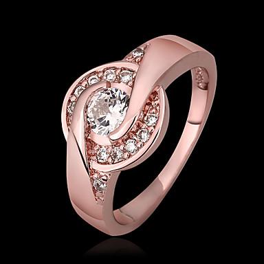 ezüst bevonatú gyűrűs gyűrű fél / napi / alkalmi 1db elegáns stílust