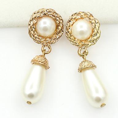 Stud Earrings Drop Earrings Crystal Pearl Imitation Pearl Rhinestone Gold Plated 18K gold Simulated Diamond Fashion Jewelry 2pcs