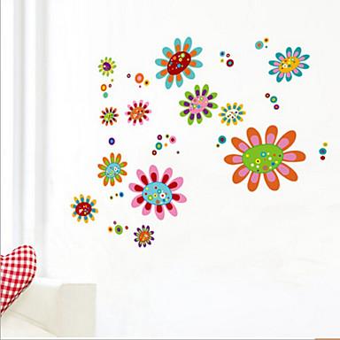 Tiere Botanisch Romantik Stillleben Mode Blumen Fantasie Wand-Sticker Flugzeug-Wand Sticker Dekorative Wand Sticker Stoff Abziehbar Haus