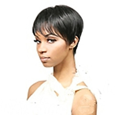 Synteettiset peruukit Suora Tiheys Suojuksettomat Naisten Carnival Peruukki Halloween Peruukki Lyhyt Synteettiset hiukset