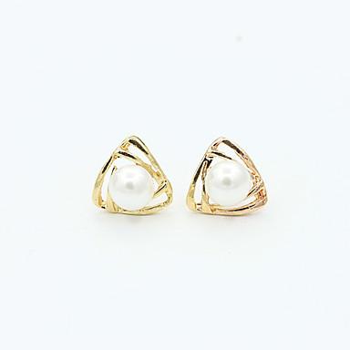 Damen Kristall Perle Künstliche Perle Strass Ohrstecker - Modisch Europäisch Gold Silber Ohrringe Für