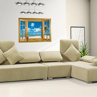 Романтика Мода Геометрия Цветы ботанический Мультипликация 3D Наклейки 3D наклейки Декоративные наклейки на стены, Винил Украшение дома