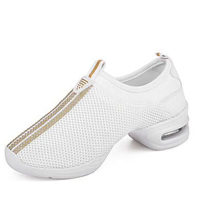 Kadın's Dans Sneakerları Sentetik Spor Ayakkabı Dış mekan Düşük Topuk Siyah Beyaz Pembe 1