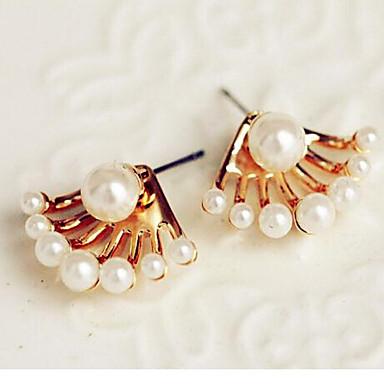Kolczyk Kolczyki na sztyft Biżuteria 2pcs Stop / Imitacja pereł Damskie Srebrne
