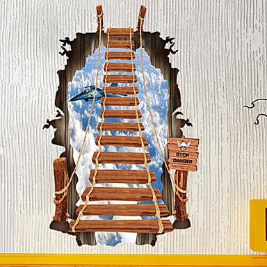 3d лестница настенные наклейки персонализированные моды лестница небо самолет стикеры стены