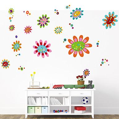 Dekorative Wand Sticker - Flugzeug-Wand Sticker Romantik Blumen Cartoon Design Botanisch Wohnzimmer Schlafzimmer Badezimmer Küche