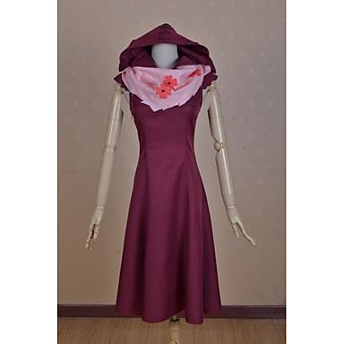 Inspiré par Tokyo Ghoul Takatsuki Sen Manga Costumes de Cosplay Costumes Cosplay Mosaïque Sans Manches Jupe Echarpe Pour Femme
