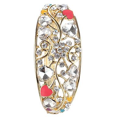 Bracelet - en Zircon Cubique/Plaqué Or - Vintage/Mignon/Soirée/Travail/Décontracté - Menotte